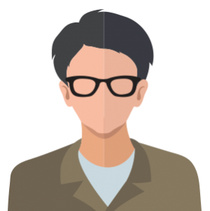 animated man with glasses lection text updates
